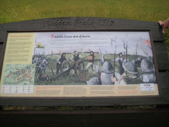 Eng, Flodden Field sign