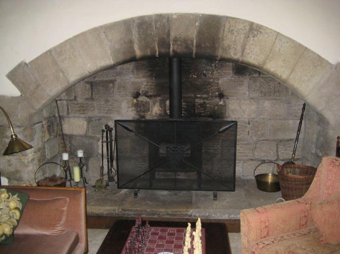 Eng, Ogle Castle fireplace