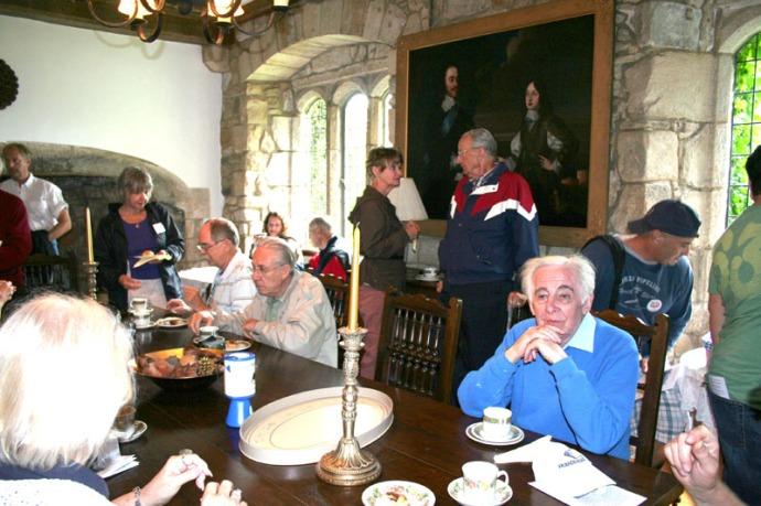 eng-ogles group at tea, ogles castle