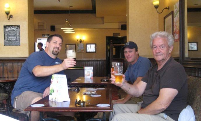Eng, pub, Shawn, Wally, Unc Jim