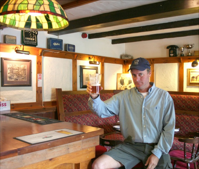 Eng-Wally in pub - Egling