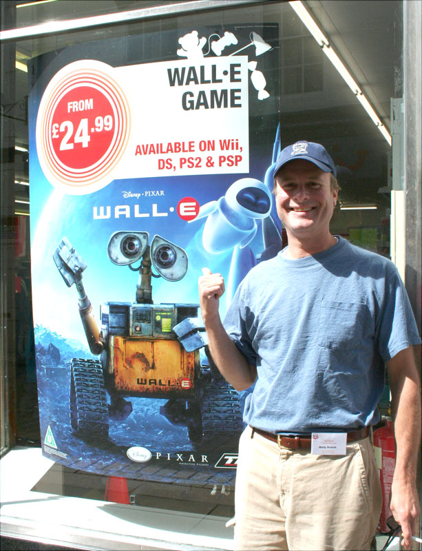 eng-wally with wall-e, hexham town