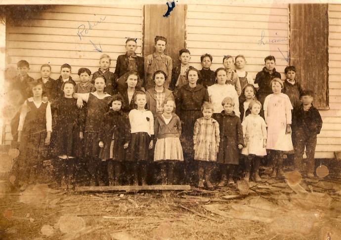 Grange Hall school children, Bowies
