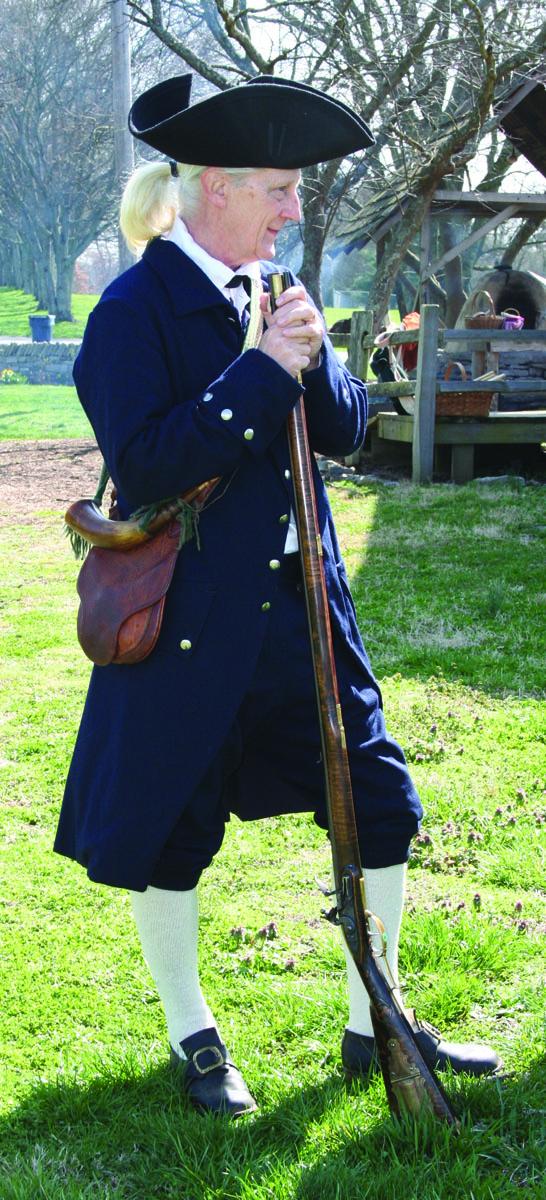 manskers, colonial man in navy