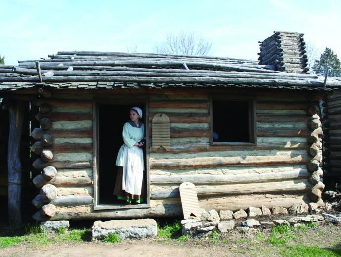 manskers, girl in cabin door