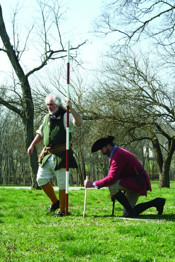 Manskers, master surveyor, pole:stake