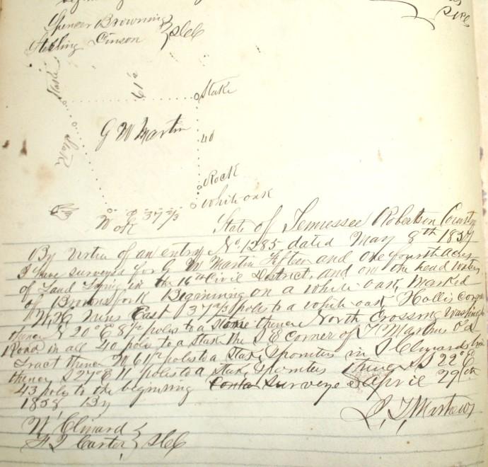 Martin, GW, 15 ac, W Clinard, Farmer cb, 1858