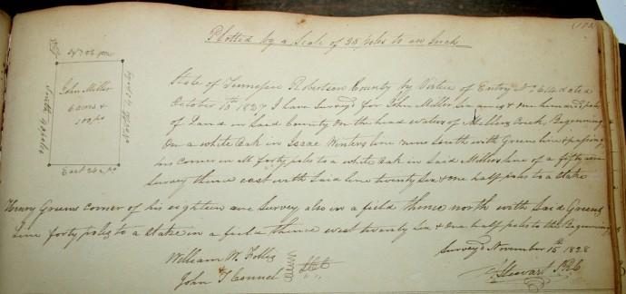 Miller, John, 6 ac, pg. 175, 1828