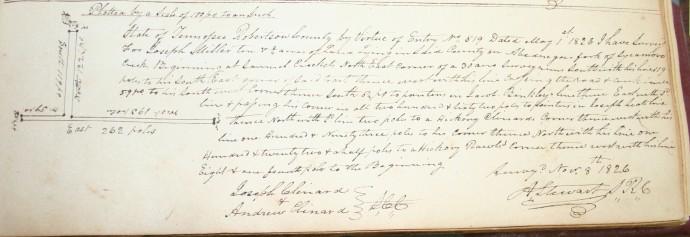 Miller, Joseph, 10 ac adj Clinard, 1826