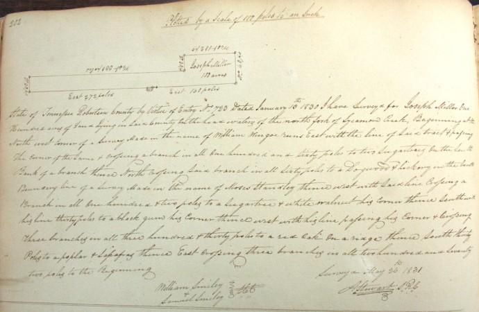 Miller, Joseph, 100 acres, 1831, pg 202