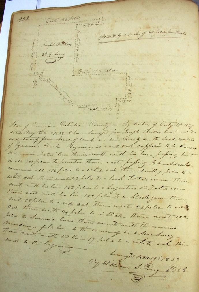 Miller, Joseph, 242 ac, 1839