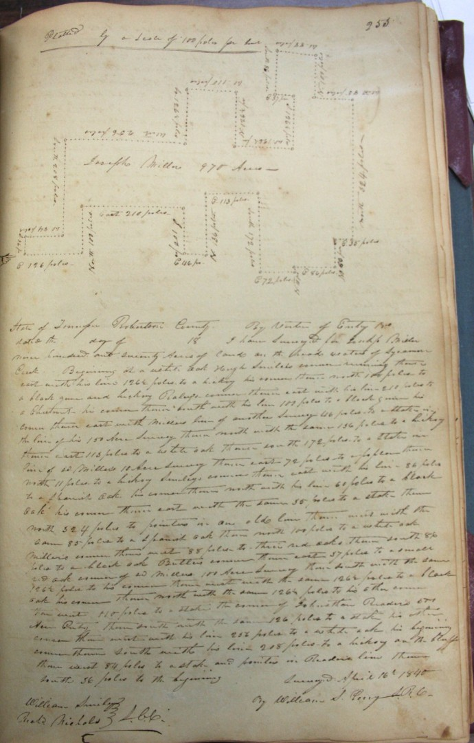 Miller, Joseph, 970 ac, 1840