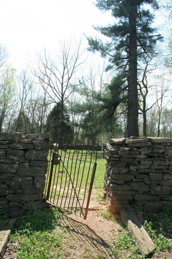 Villines Cemetery iron gate