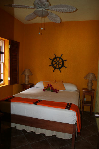 Belize caye casa bedroom