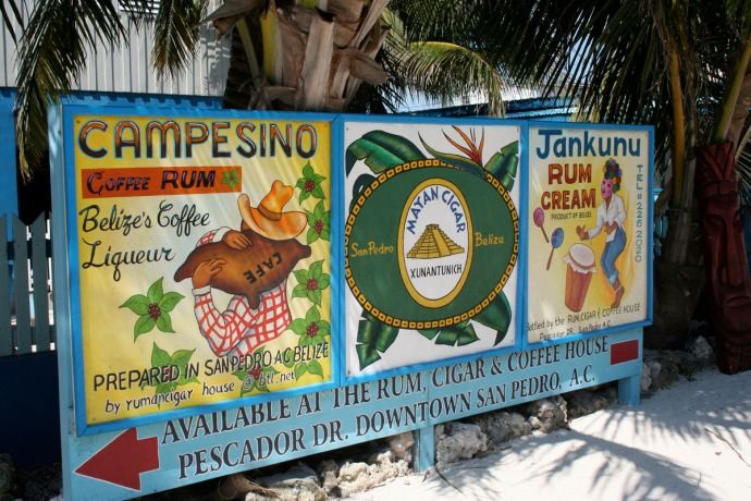 Belize coffee advertising sign