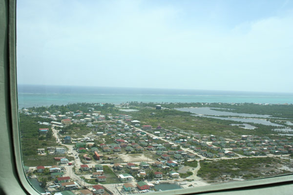 Belize, flying into San Pedro