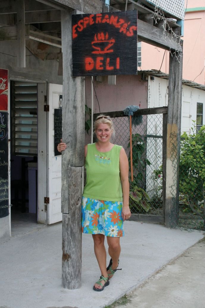 Belize, Jamie at Esperanzas Deli
