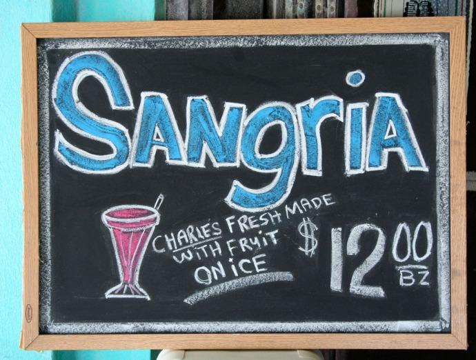 Belize Sangria chalkboard
