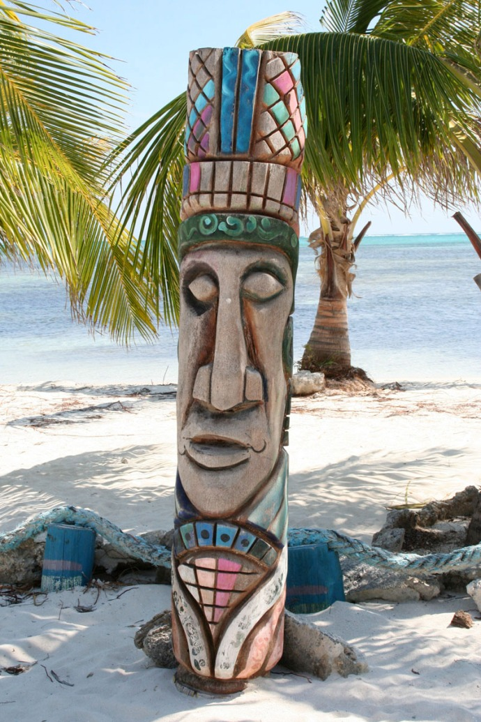 Belize totem pole