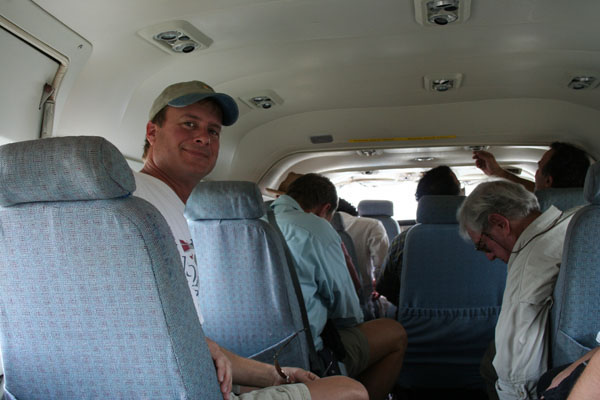 Belize, Wally on puddle jumper
