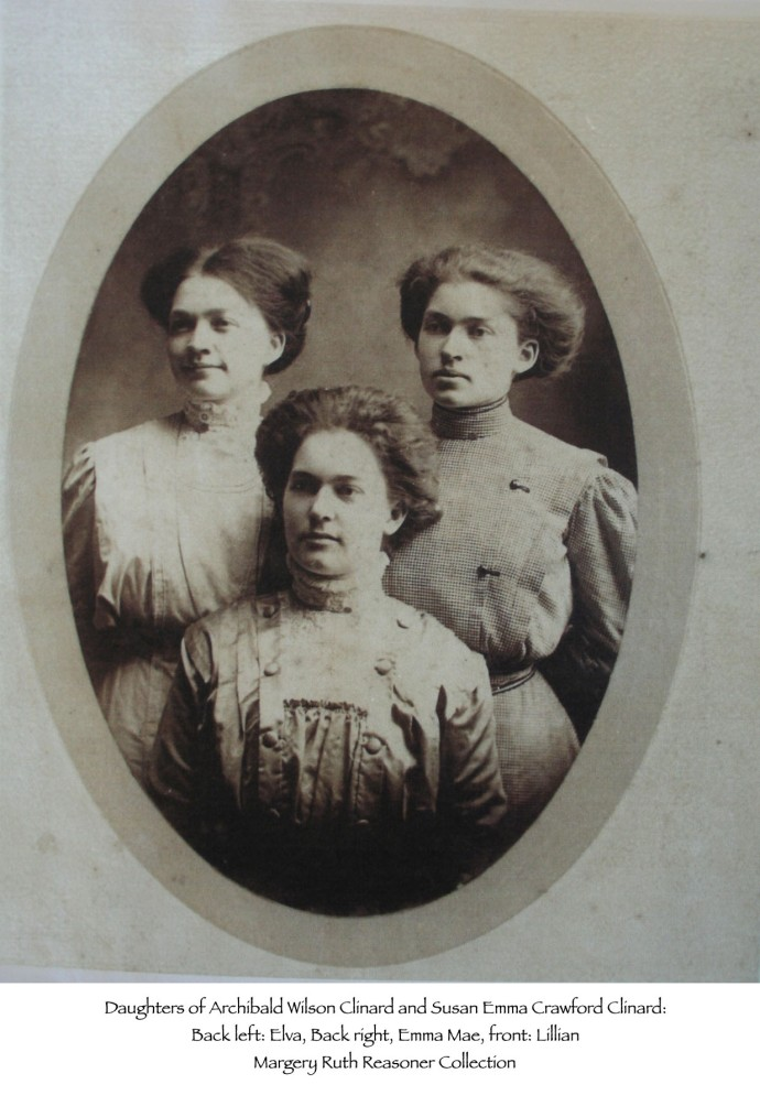 Elva, Emma Mae & Lillian Clinard, Reasoner coll