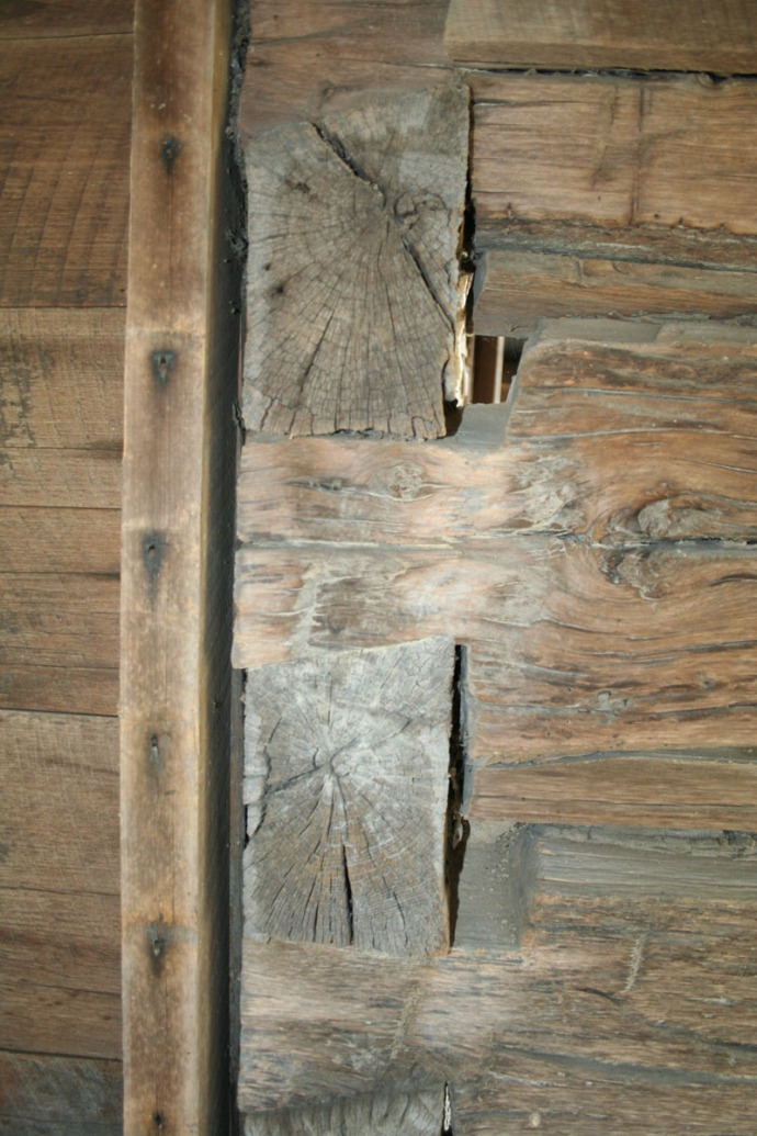 huffman cabin log joinery