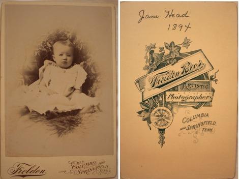 Jane Head 1894 baby pic