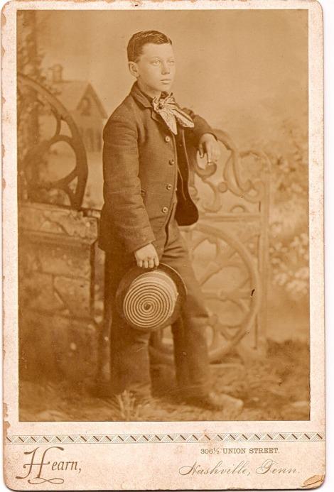 Jesse James Head boyhood portrait