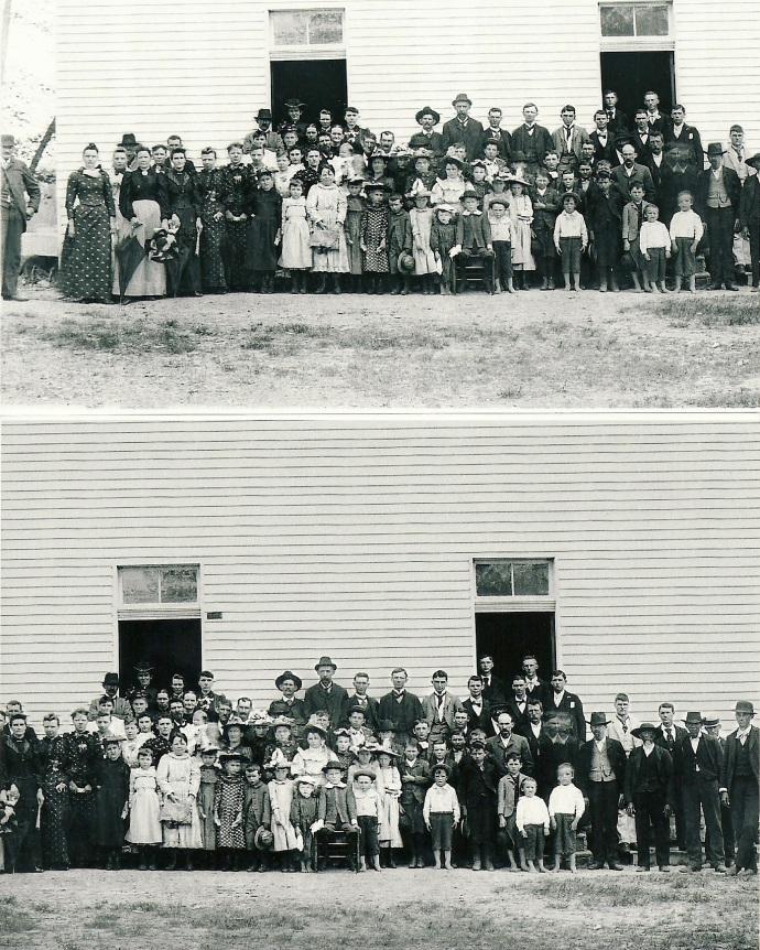 Mt. Sharon Sunday School, 1894, Bonnie Mills
