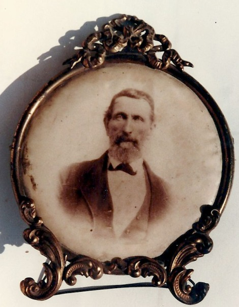 Rev. James Howard Crawford in frame, from Evelyn Bell