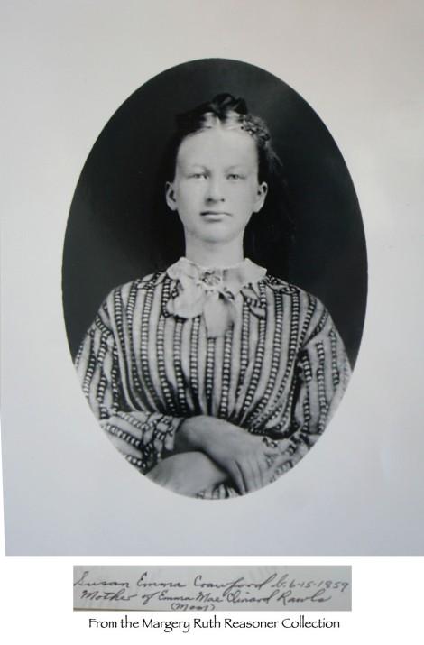 Susan Emma Crawford, striped shirt,oval