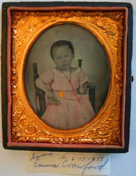 Susan Emma Crawford tintype, 1859, Reasoner coll