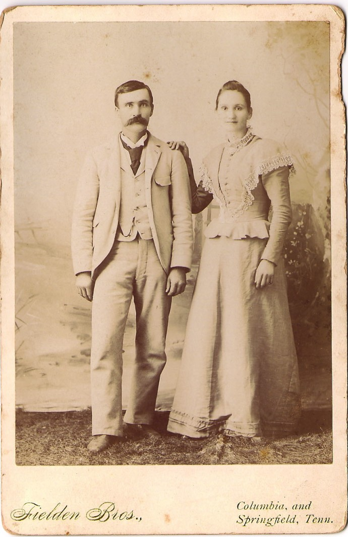 W.T. Head & Nancy Elizabeth Holmes wedding pic