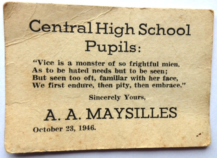 Central High School quote card