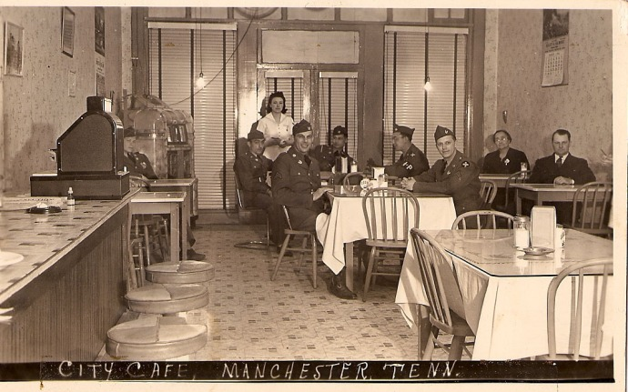City Cafe, Mancester, WWII soldiers, Atha Ogles pic