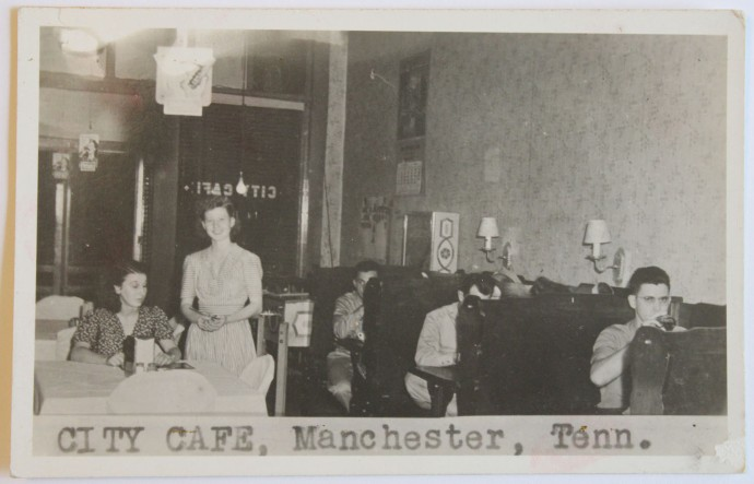 City Cafe, Manchester diners, 1940s pc
