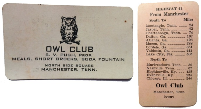 Owl Club card front