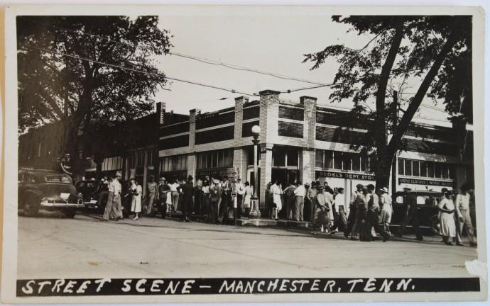 Street Scene pc, Manchester, 1940s
