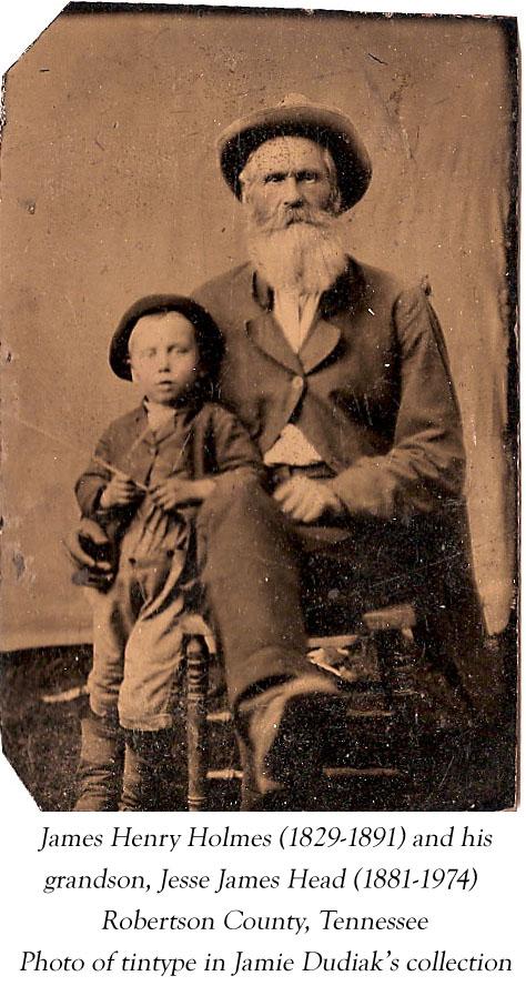 James Henry Holmes, Jesse James Head