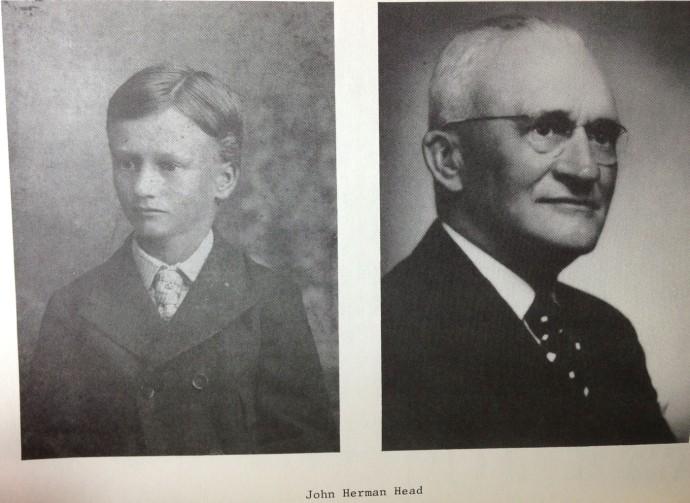 John Herman Head young & old, Head book
