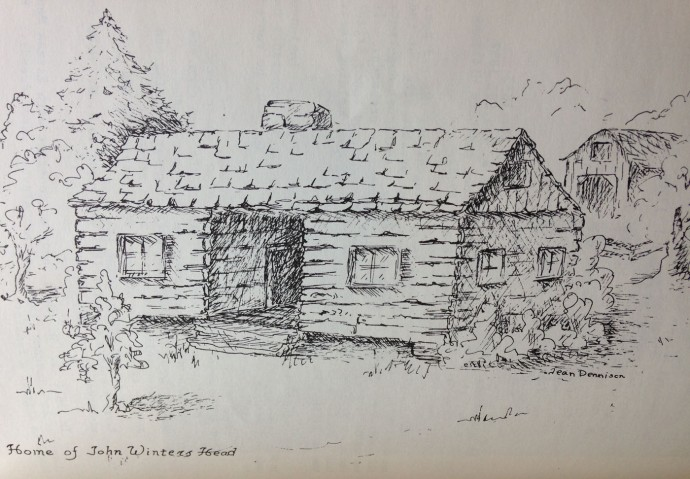 John Winters Head home, Jean Dennison drawing