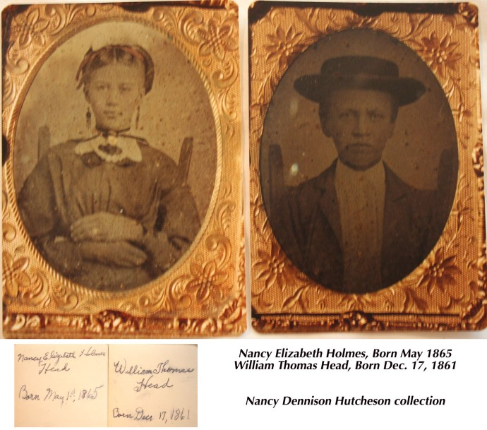 Nancy Elizabeth Holmes, W.T. Head childhood tintypes