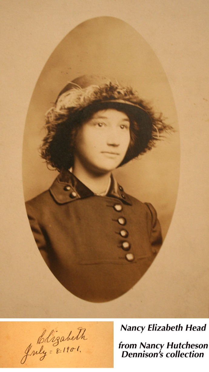 Rosa Elizabeth Head, 1901 with hat