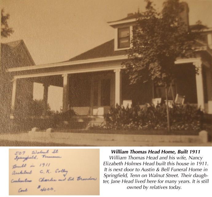 W.T. Head House, Walnut Street, Springfield
