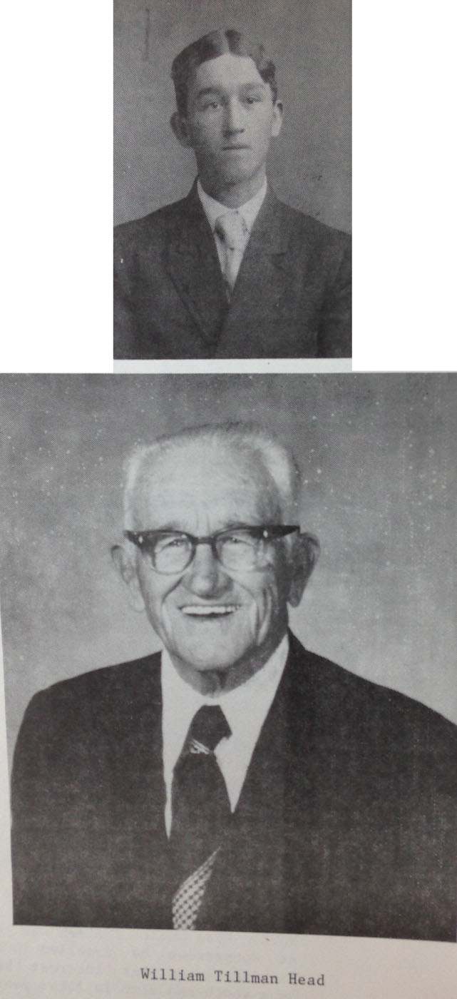 William Tillman Head, young & old, Head book