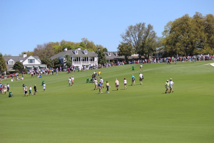 Masters clubhouse & crowds