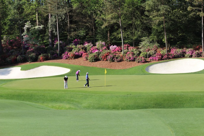 Masters Tiger & two, Amen corner big