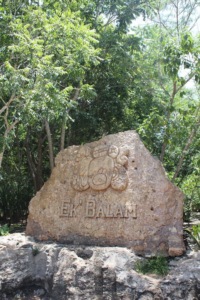 Ek Balam entrance sign