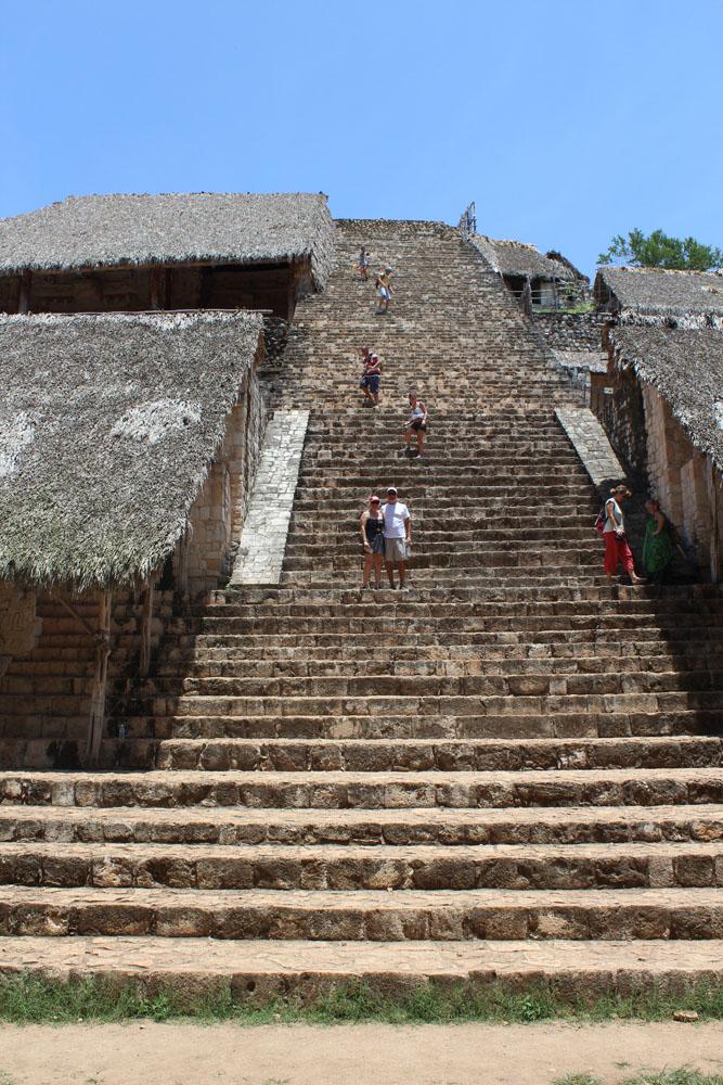 Ek Balam jamie and wally on steps