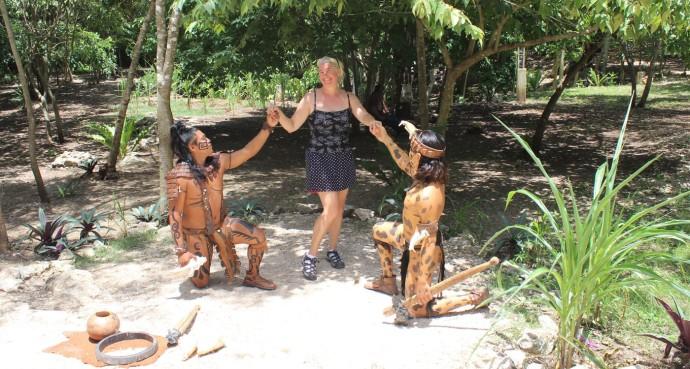 Ek Balam Jamie with maya warriors